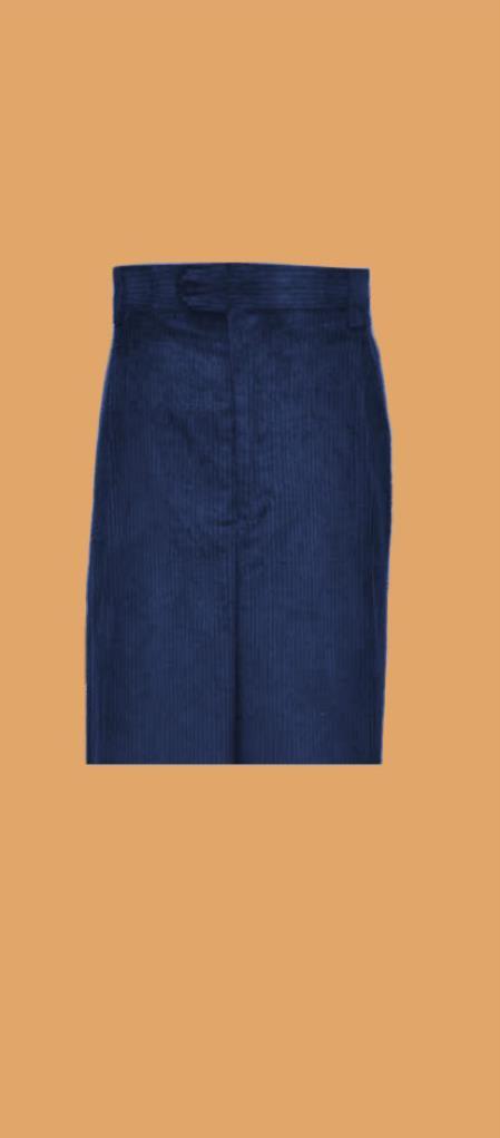 Buy SS-VR14 Corduroy Navy Blue Wide Whale Cord Pants Slacks Men