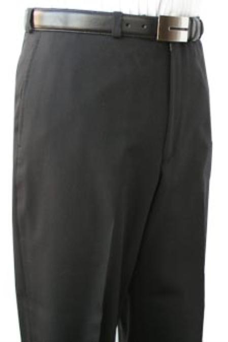 SKU#IMU834 Cotton Summer Light Weight Black Flat Front Pant 100% Superfine Cotton