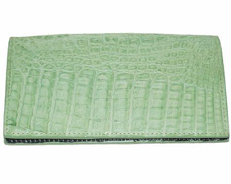 Mens Genuine Exotic Animal Skin Wallet ~ billetera ~ CARTERAS Large Hornback Wallet Mint Green