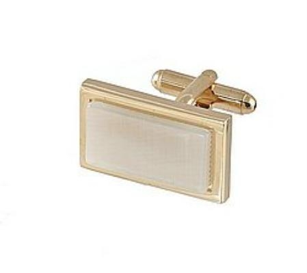 SKU#DF330 Cufflinks Gold My 0002G Pearl $39