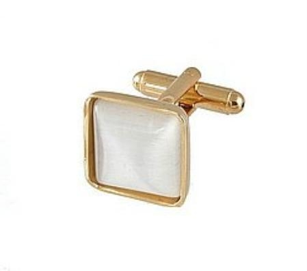 SKU#WJ811 Cufflinks Gold My 0024G Pearl $39