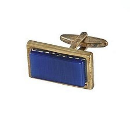 SKU#PK441 Cufflinks Gold My 0002G R.Blue $39
