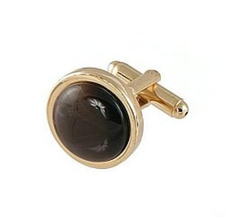 SKU#DK811 Cufflinks Gold My 0025G Brown $39