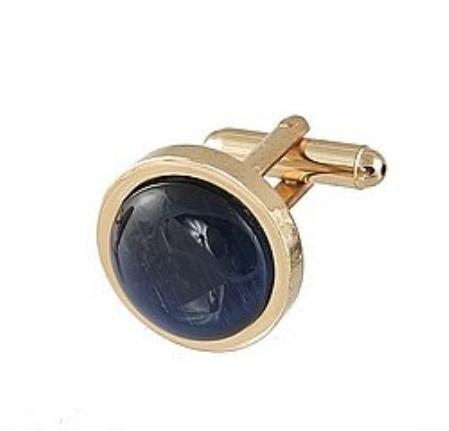 SKU#DX110 Cufflinks Gold My 0025G Navy $39