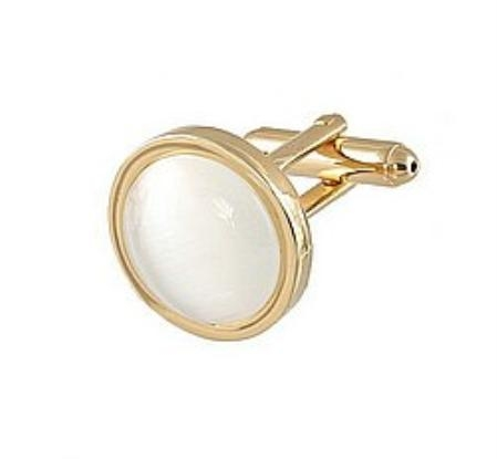 SKU#FG339 Cufflinks Gold My 0025G Pearl $39