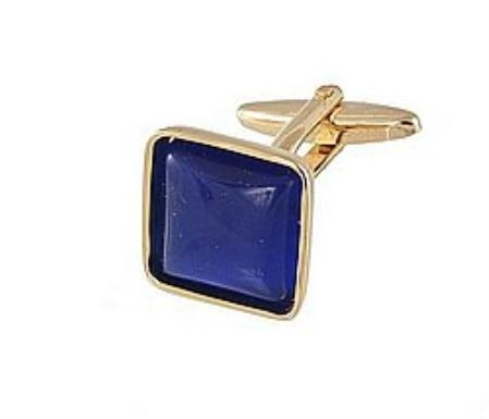 SKU#YG701 Cufflinks Gold My 0024G R.Blue $39