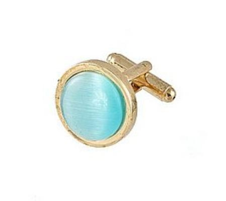 SKU#NJ312 Cufflinks Gold My 0025G Turquoise $39