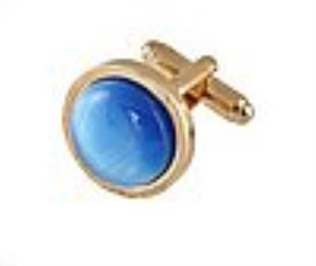 SKU#QK818 Cufflinks Gold My 0025G Blue9 $39