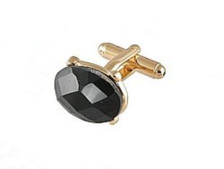 SKU#VU282 Cufflinks Gold Vs 021G Black $39