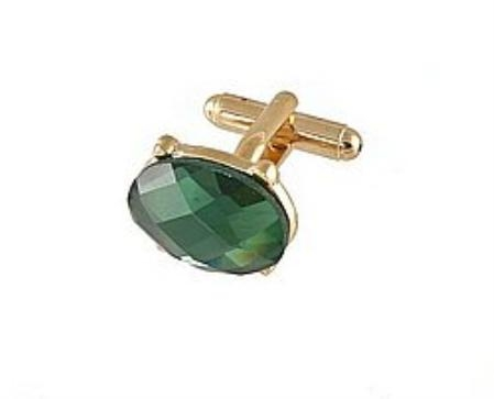 SKU#WZ711 Cufflinks Gold Vs021G Green $39