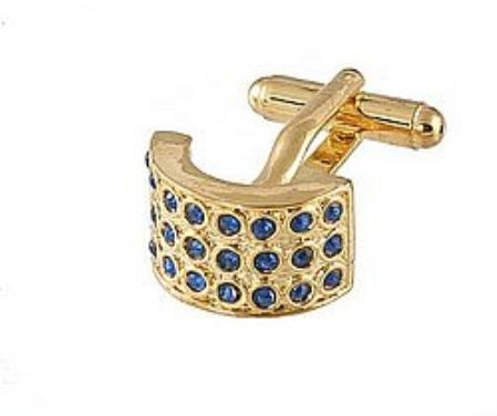 SKU#FM101 Cufflinks Gold Xk 0026G Blue $39