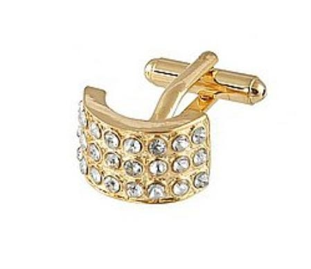 SKU#JB300 Cufflinks Gold Xk 0026G Diamond $39