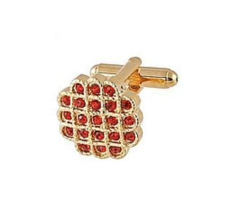 SKU#LI202 Cufflinks Gold Xk 0023G Red $39