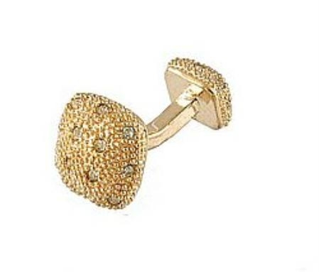 SKU#AL289 Cufflinks Gold Xk 0030G Diamond $39