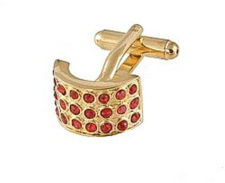 SKU#ED119 Cufflinks Gold Xk 0026G Red $39