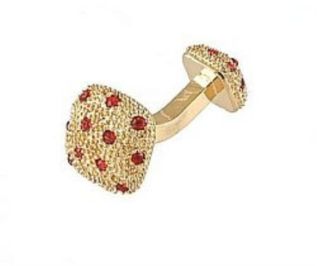 SKU#GI734 Cufflinks Gold Xk 0030G Red $39