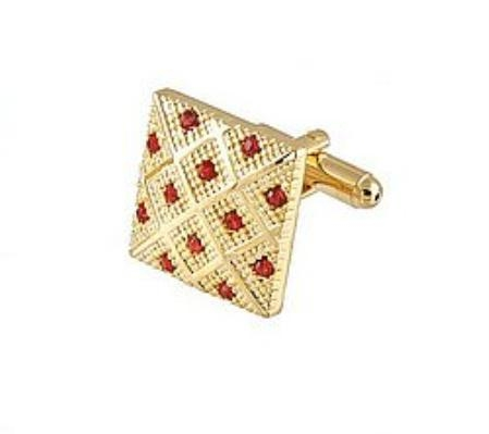 SKU#BK701 Cufflinks Gold Xk 0042G Red $39