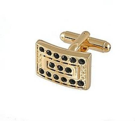 SKU#BT765 Cufflinks Gold Xk 0069G Black $39