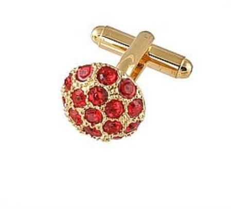 SKU#BY309 Cufflinks Gold Xk 0068G Red $39