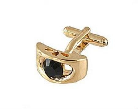 SKU#FK311 Cufflinks Gold Xk 0072G Black $39