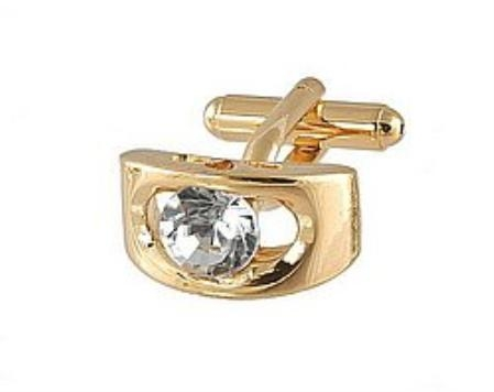 SKU#EB281 Cufflinks Gold Xk 0072G Diamond $39