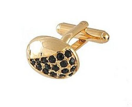 SKU#TU811 Cufflinks Gold Xk 0078G Black $39