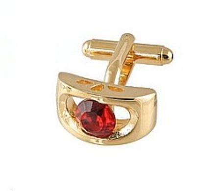 SKU#YB745 Cufflinks Gold Xk 0072G Red $39