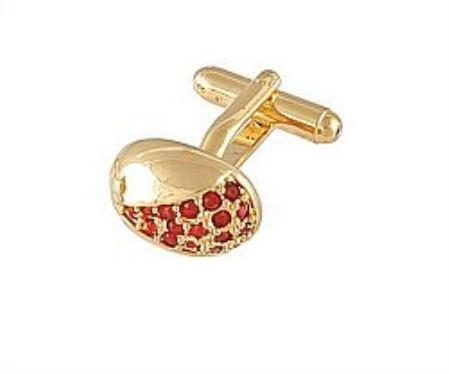 SKU#BS333 Cufflinks Gold Xk 0078G Red $39