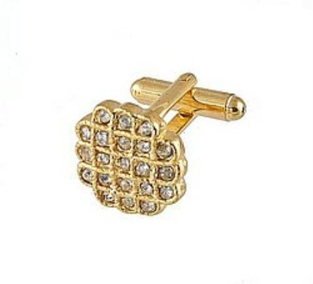 SKU#JO291 Cufflinks Gold Xk 0023G Diamond $39