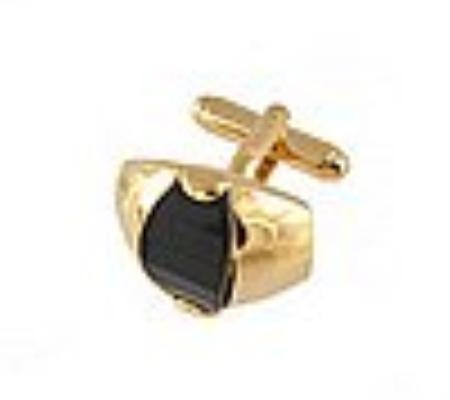 SKU#HB310 Cufflinks Gold Xk 0107G Black $39