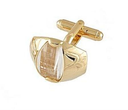 SKU#FK222 Cufflinks Gold Xk 0107G Diamond $39