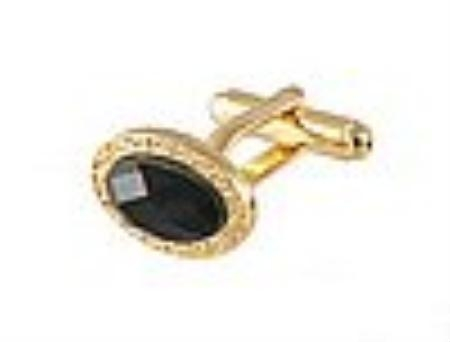 SKU#JG411 Cufflinks Gold Xk 0110G Black $39