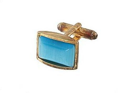SKU#RN719 Cufflinks Gold Xk 0111G Blue $39