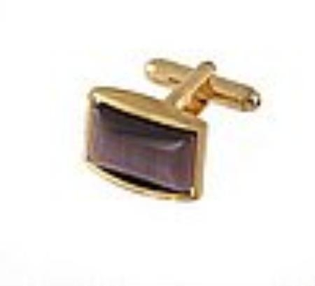 SKU#HT411 Cufflinks Gold Xk 0111G Brown $39