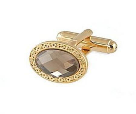 SKU#FT911 Cufflinks Gold Xk 0110G Grey $39