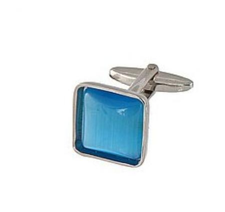 SKU#KO911 Cufflinks Silver My 0024S Blue $39