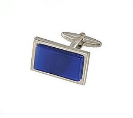SKU#HU334 Cufflinks Silver My 0002S R.Blue $39