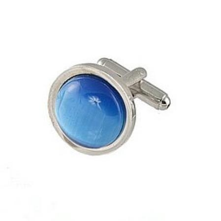 SKU#EK455 Cufflinks Silver My 0025S Blue9 $39