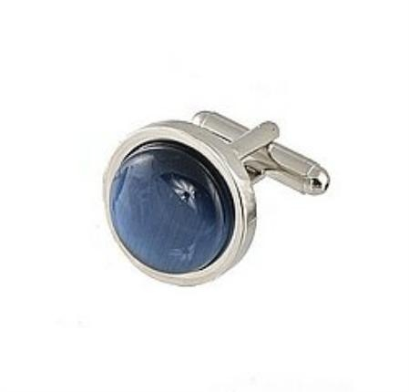 SKU#UT441 Cufflinks Silver My 0025S Navy $39