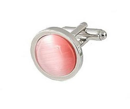 SKU#RH333 Cufflinks Silver My 0025S Pink $39