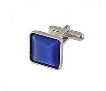 SKU#ET511 Cufflinks Silver My 0024S R.Blue $39