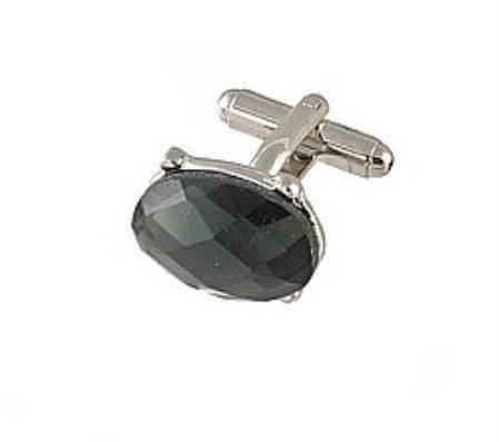 SKU#WK441 Cufflinks Silver Vs021S D.Grey $39