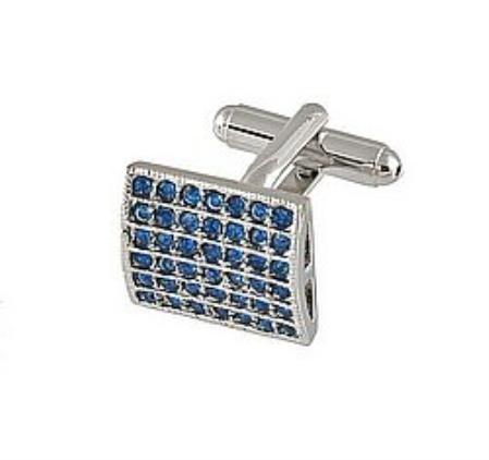 SKU#RU336 Cufflinks Silver Xk 0011S Blue $39