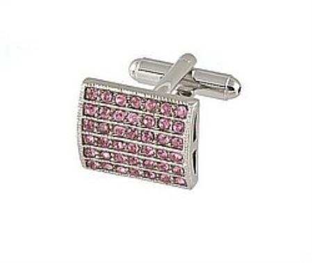 SKU#GB771 Cufflinks Silver Xk 0011S Pink $39
