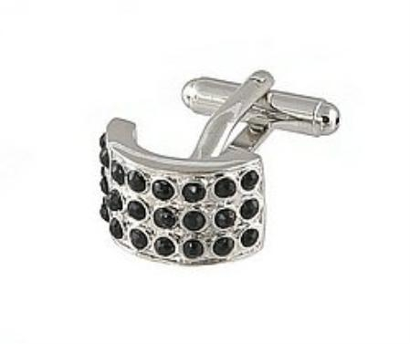 SKU#FN492 Cufflinks Silver Xk 0026S Black $39