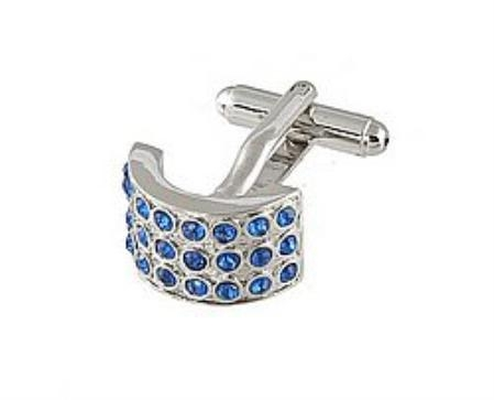SKU#VB523 Cufflinks Silver Xk 0026S Blue $39