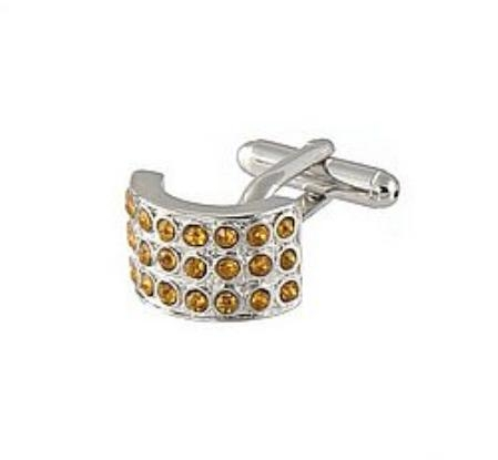 SKU#RJ811 Cufflinks Silver Xk 0026S Brown $39