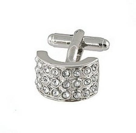 SKU#DH823 Cufflinks Silver Xk 0026S Diamond $39