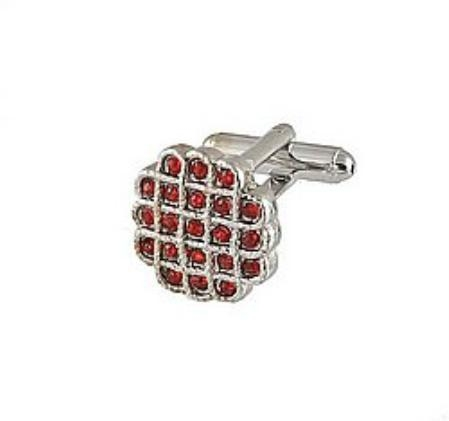 SKU#FB441 Cufflinks Silver Xk 0023S Red $39