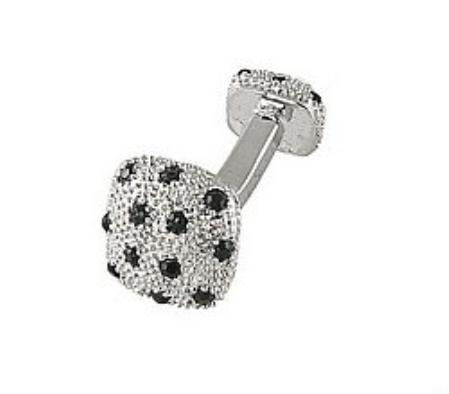 SKU#WJ881 Cufflinks Silver Xk 0030S Black $39